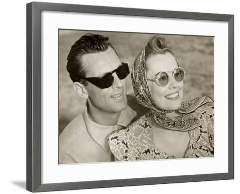 Couple With Sunglasses-George Marks-Framed Art Print