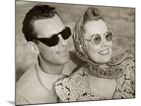 Couple With Sunglasses-George Marks-Mounted Photographic Print