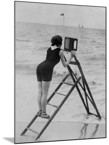 Beach Photographer--Mounted Photographic Print