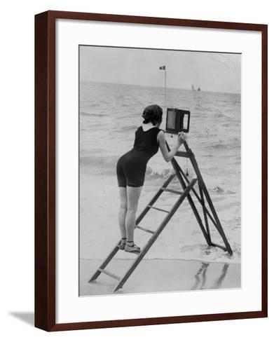 Beach Photographer--Framed Art Print