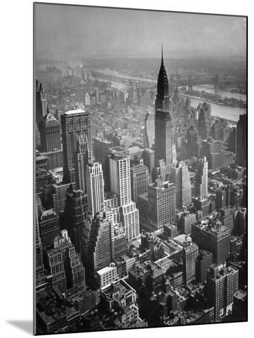 Aerial View of New York City-George Marks-Mounted Photographic Print