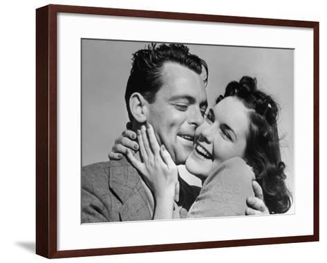Couple Cheek-To-Cheek-George Marks-Framed Art Print