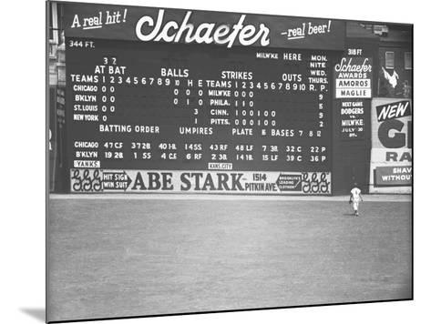 Scoreboard at Baseball Field-George Marks-Mounted Photographic Print