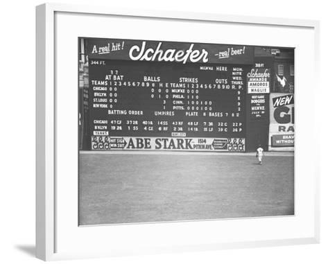 Scoreboard at Baseball Field-George Marks-Framed Art Print