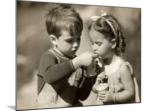 Boy Gives Ice Cream To Sister-George Marks-Mounted Photographic Print
