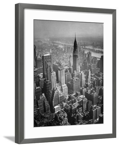 Aerial View of New York City-George Marks-Framed Art Print