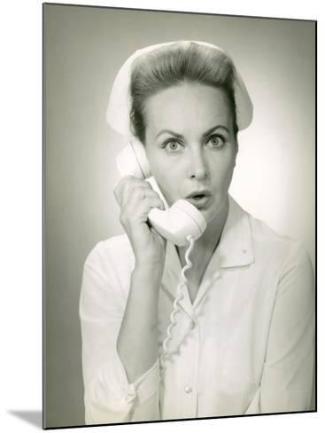 Nurse on Telephone-George Marks-Mounted Photographic Print