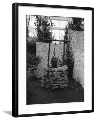 Stone Built Well-George Marks-Framed Art Print
