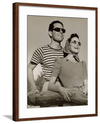 Couple in Sunglasses-George Marks-Framed Art Print
