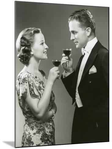 Couple Drinking Wine-George Marks-Mounted Photographic Print