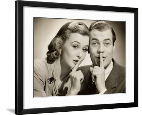 Couple With Secret-George Marks-Framed Art Print