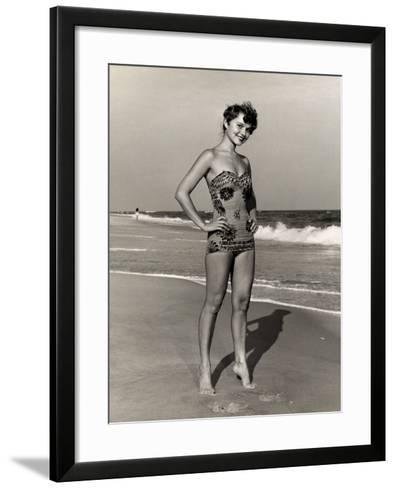 Woman at the Beach-George Marks-Framed Art Print