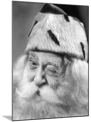 Santa Claus Winking-George Marks-Mounted Photographic Print