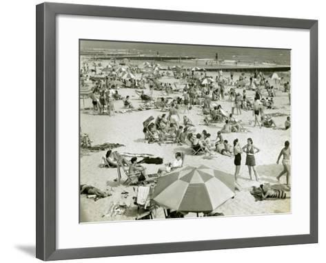 Bathers at the Beach-George Marks-Framed Art Print