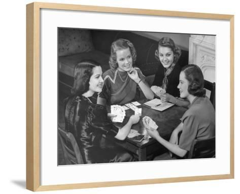 Women Playing Cards-George Marks-Framed Art Print