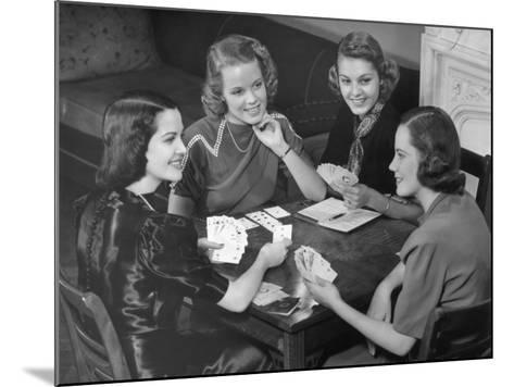 Women Playing Cards-George Marks-Mounted Photographic Print