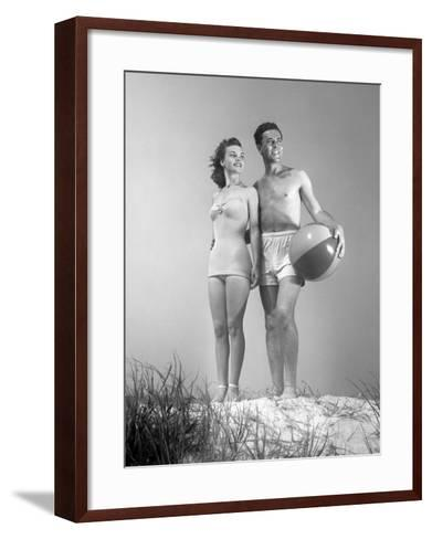 Couple at the Beach-George Marks-Framed Art Print