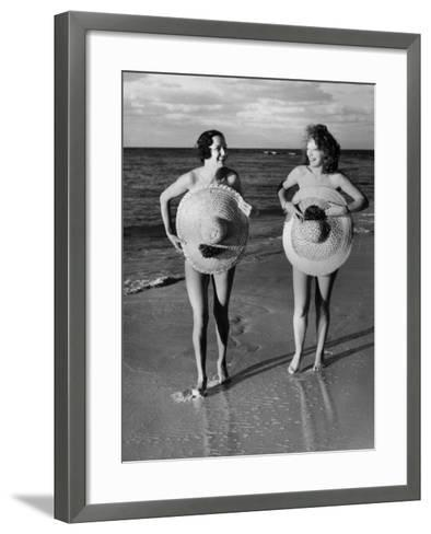 Protective Sunhats--Framed Art Print
