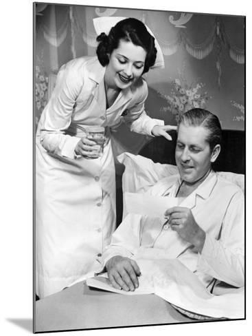 Nurse Taking Care of Sick Patient-George Marks-Mounted Photographic Print