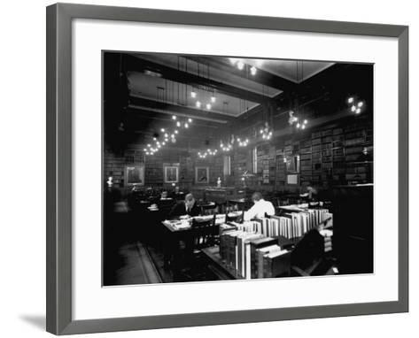 Hospital Library--Framed Art Print
