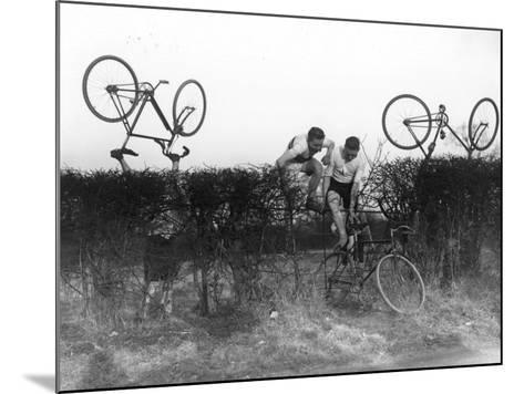 Cross County Cycling--Mounted Photographic Print