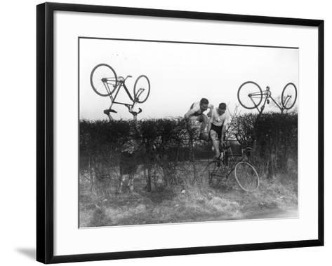 Cross County Cycling--Framed Art Print