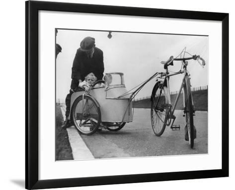 Bicycle Trailer--Framed Art Print