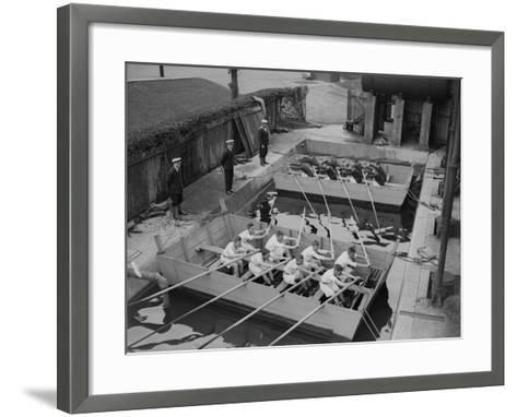 Rowing Training--Framed Art Print