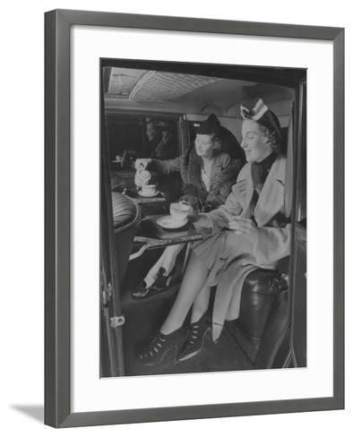 Tea Time Travel--Framed Art Print