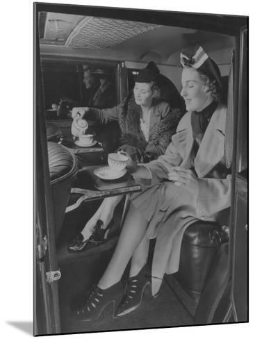 Tea Time Travel--Mounted Photographic Print