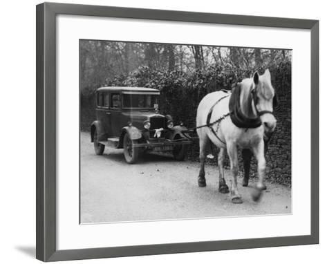 One Horse Power--Framed Art Print