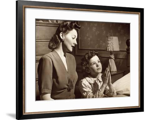 Girl Praying With Mother-George Marks-Framed Art Print