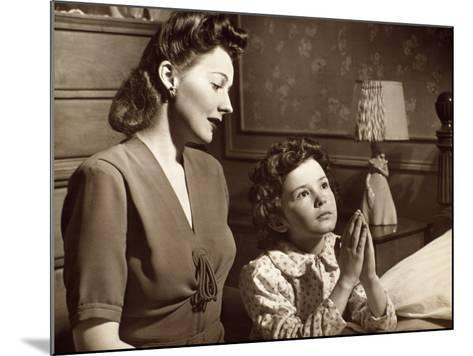 Girl Praying With Mother-George Marks-Mounted Photographic Print