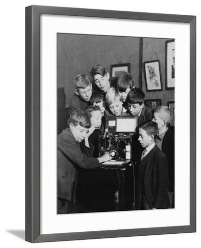Conference Call--Framed Art Print