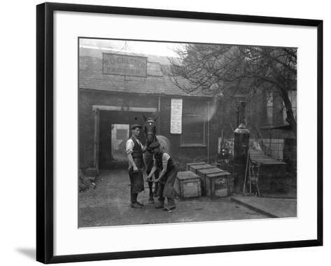 Farrier at Work--Framed Art Print