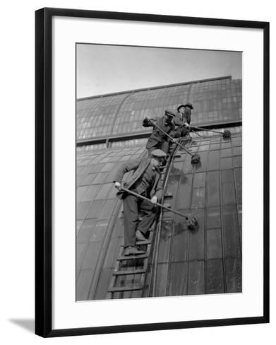 Window Cleaning--Framed Art Print