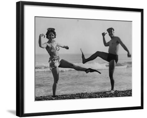Flip Flop Dance--Framed Art Print