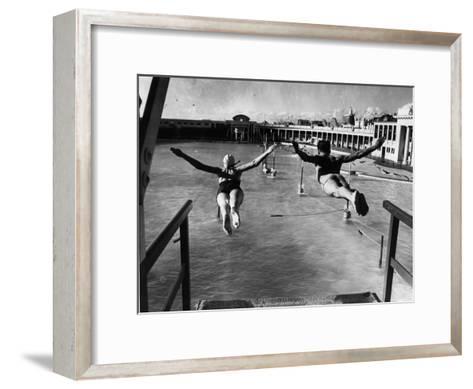 Swallow Dives--Framed Art Print
