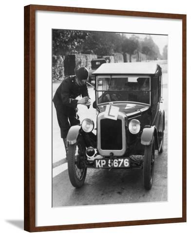 Learner Driver--Framed Art Print