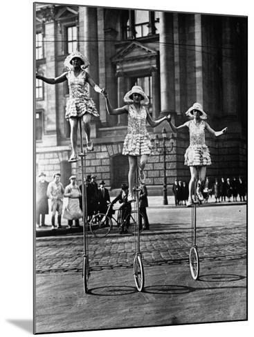 Trick Cyclists--Mounted Photographic Print