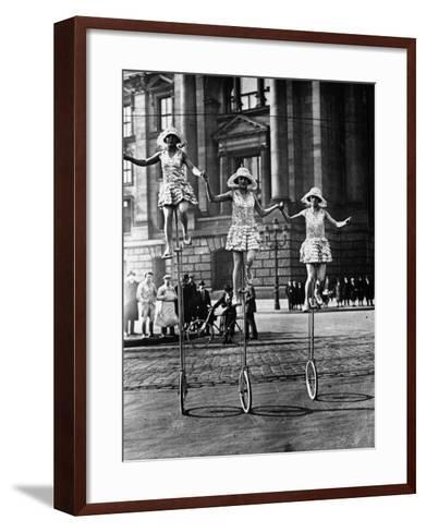 Trick Cyclists--Framed Art Print