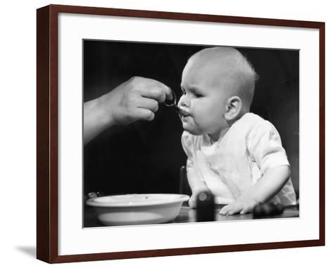 Baby Being Fed-George Marks-Framed Art Print
