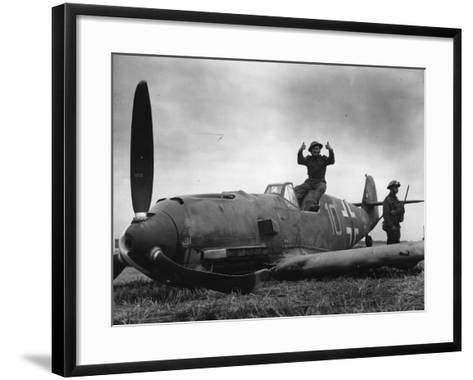 Guarding Plane--Framed Art Print
