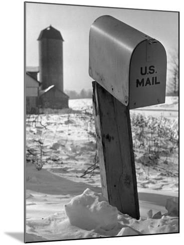Mail Box in Snow-George Marks-Mounted Photographic Print
