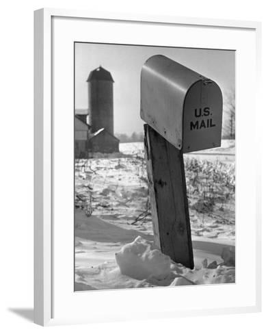 Mail Box in Snow-George Marks-Framed Art Print