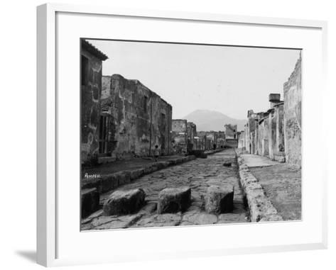 Pompeii Street--Framed Art Print
