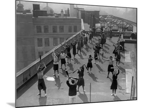 Exercise Class--Mounted Photographic Print