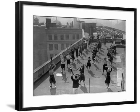 Exercise Class--Framed Art Print
