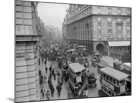 London Traffic--Mounted Photographic Print
