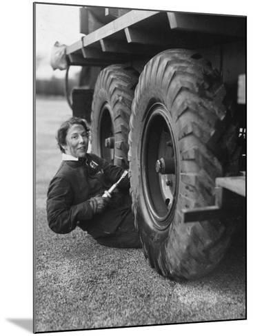 Wheel Greaser--Mounted Photographic Print